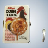 Kellogg's Corn Flakes Trinket Box Hinged PHB Collection Retrospect Miniature Porcelain Box of Cereal Famous Brands Classics by Midwest of Cannon Falls Discontinued