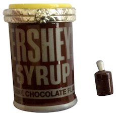 Hinged Trinket Box Hershey's Syrup Can Chocolate Flavor PHB Collection Retrospect Miniature Porcelain Famous Brands Classics by Midwest of Cannon Falls Discontinued