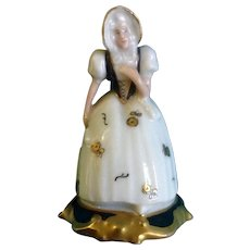 Rosenthal Selb Bavaria #20 453 Signed by Artist Gold Gilding Accents Fine Hand Painted Figurine