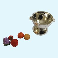 Colander with Fruit Miniature Porcelain Hinged Trinket Box