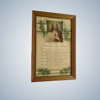 Vintage Poem Jesus House Blessing Framed Print