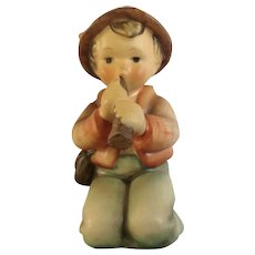 Vintage M. J. Hummel Goebel  #214H Little Tooter Boy Blowing Horn Porcelain Figurine TMK-4 W Germany