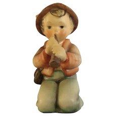 Vintage Little Tooter M. I. Hummel Goebel  #214H Boy Blowing Horn Porcelain Figurine TMK-4 W Germany