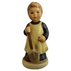Vintage M. I. Hummel Goebel  #727 Garden Treasures Little Girl with Shovel Collectors Club 1998-1999 Porcelain Figurine Germany