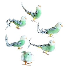 Vintage Feather Bird Embellishment Ephemera Easter Decorations