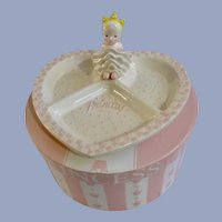 Mud Pie Princess Girl Pink Baby Segmented Heart Plate