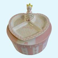 Mud Pie Princess Girl Pink Baby Segmented Heart Plate
