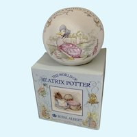 Beatrix Potter Money Ball Puddle Duck Royal Albert Bank England