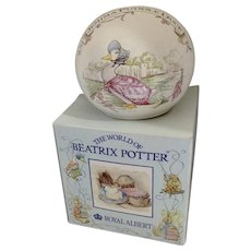 Beatrix Potter Money Ball Jemima PuddleDuck Royal Albert Bank Figurine England