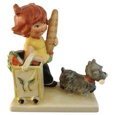 Vintage Goebel Charlot Redheads Little Shopper BYJ #53 TMK-4 The Three Line Mark W Germany Porcelain Cairn terrier Dog Figurine