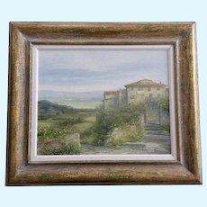 Antonietta Varallo, Tuscany Landscape Old Villas Oil Painting