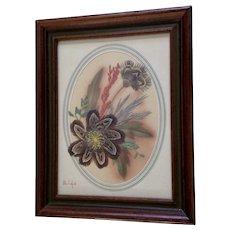 Ellen Kiefert Prairie Picture Feather Art Painting North Dakota