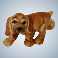 Hagen Renaker Juvenile Walking Cocker Blonde, #339 Early White Clay Edition  Retired Dog Figurine
