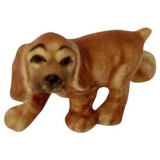 Hagen Renaker Juvenile Walking Cocker Blonde, #339 Early White Clay Edition  Retired Dog Figurine