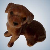 Hagen Renaker Dachshund Pup Puppy Dog, sitting, #348 1957 - Retired Dog Figurine