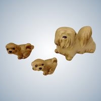 Hagen Renaker Lhasa Apso Dog, #816 Lhaso Apso Pup Puppy, #817 1982-Retired Dog Figurines