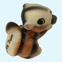Grand Coulee Dam Squirrel  Souvenir Bone China Miniature Figurine