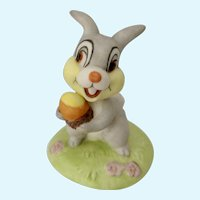 The Disney Collection Thumper from Walt Disney's Bambi 1988 Bisque Bunny Rabbit Figurine