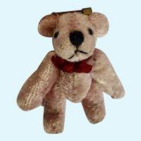 Vintage Pink Teddy Bear Brooch Pin Russ Berrie