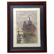 Church of the Savior on Spilled Blood Saint Petersburg, Russia Original Watercolor Painting