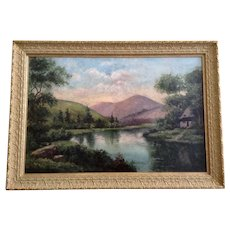 Beautiful 19th Century Landscape Oil Painting