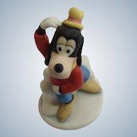 The Disney Collection Goofy Ice Skating Walt Disney Company 1987 Bisque Dog Figurine
