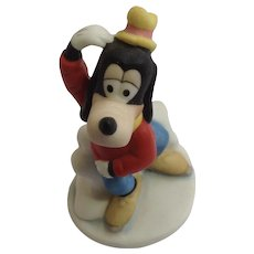 The Disney Collection Goofy Ice Skating Walt Disney Company 1987 Bisque Dog Figurine