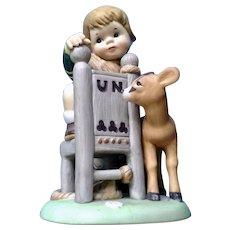 1979 UN Children Bisque Figurine By Franklin Porcelain Fritz from Austria