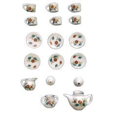 Bone China Miniature Tea Set with 6 Cup and Saucers, Teapot, Cream and Sugar Japan