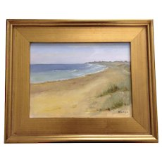 Nuala Fairclough, Montauk Point State Park Beach Landscape Oil Painting Signed by New York Artist