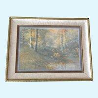 William Arnold Eyden Jr. (1893-1982) Woods Landscape Gouache Watercolor Painting