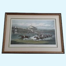 The Winning Post by Henry Thomas Alken Aquatint Etching Published 1871