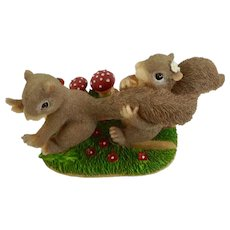 Fitz & Floyd Charming Tails You Can't Run From Love Gray Squirrels Collectible Figurine 84/104 Dean Griff