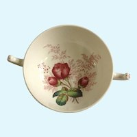Spode Lady Anne Footed Cream Soup Bowl Mansard England Pink Roses Replacement