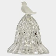 Hofbauer Byrdes Crystal Bird Frost to Clear Bell German