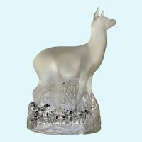 Beautiful Rare Frosted Glass Doe Deer Figurine Statuette