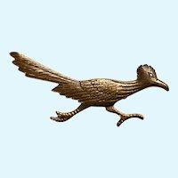 Copper Tone Roadrunner Bird Pin