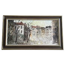 Albert G Cragoni, European Cityscape Mid-Century Oil Painting Signed by Listed Austrian Artist