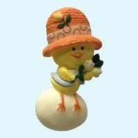 1975 Hallmark Vintage Easter Chick  on Egg Pin Chickery Chick