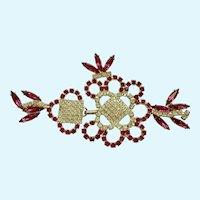 Pink and Diamond Rhinestone Flower Dress or Buckle Closure Hook and Eye Clasp