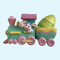 Easter Crayola Crayon Bunny Eggspress Egg Holder Toy Train Figurine Hallmark