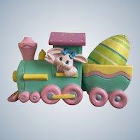 Easter Crayola Crayon Bunny Eggspress Colored Egg Toy Train Engine Figurine Hallmark Cards Egg Holder