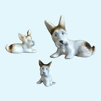 Scotty Dog Figurines Animal Family Germany
