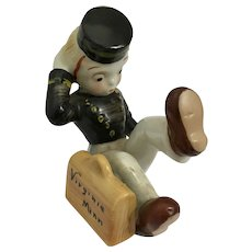Vintage Bellhop Bellboy Falling Down Virginia Minnesota Souvenir Figurine Japan