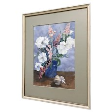 Alice Craig Wild Flowers Still Life Watercolor Painting Signed by Listed Artist