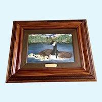Sandy Malinda Riley, Three Girls & Boy Goslings and Geese Acrylic Painting