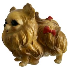 Vintage Josef Originals Pomeranian Dog Figurine Made in Japan