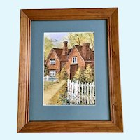 VI Webb, Tudor House Watercolor #72 Signed By Artist