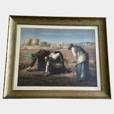 The Gleaners (Des glaneuses) Workers in a Field Old Chromolithograph Jean-François Millet French Artist