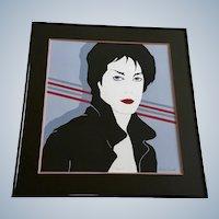 Albert Guida, Vintage 'Sara' Serigraph Screen Print Signed Limited Edition 1980's